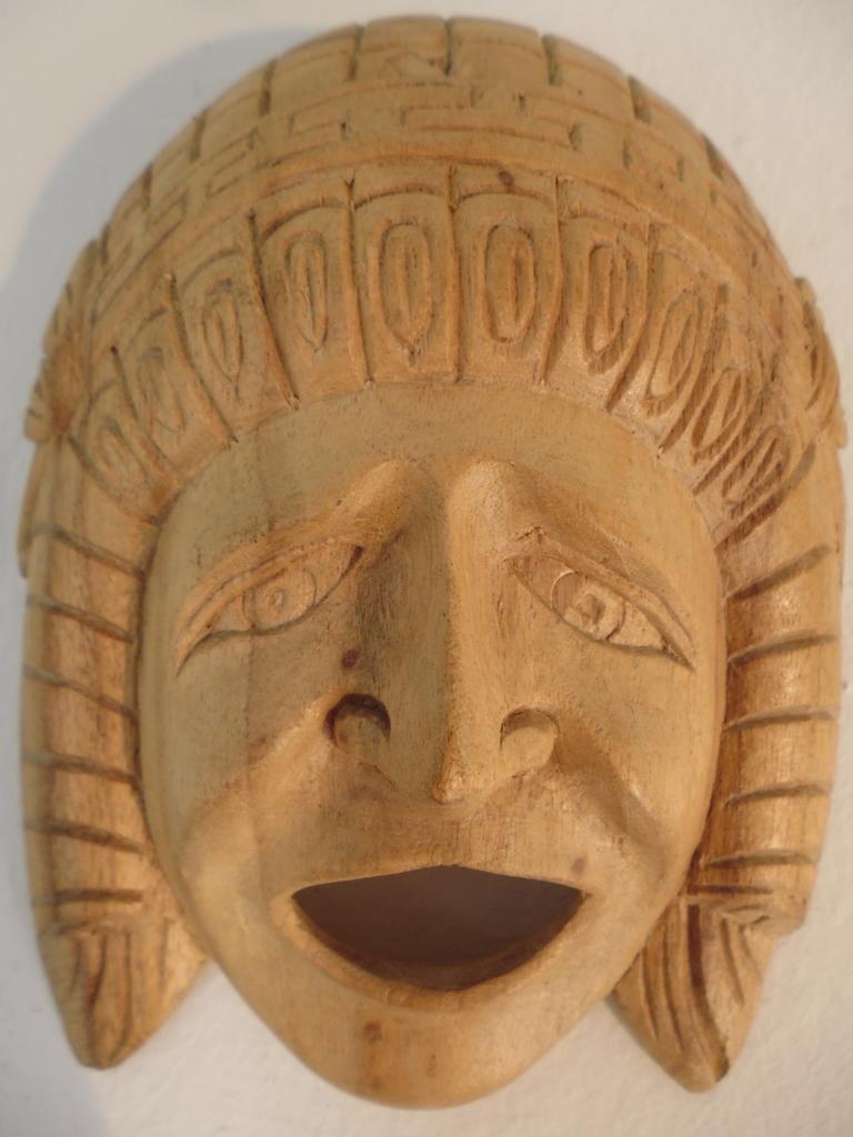 Grieks masker Schreeuwende man