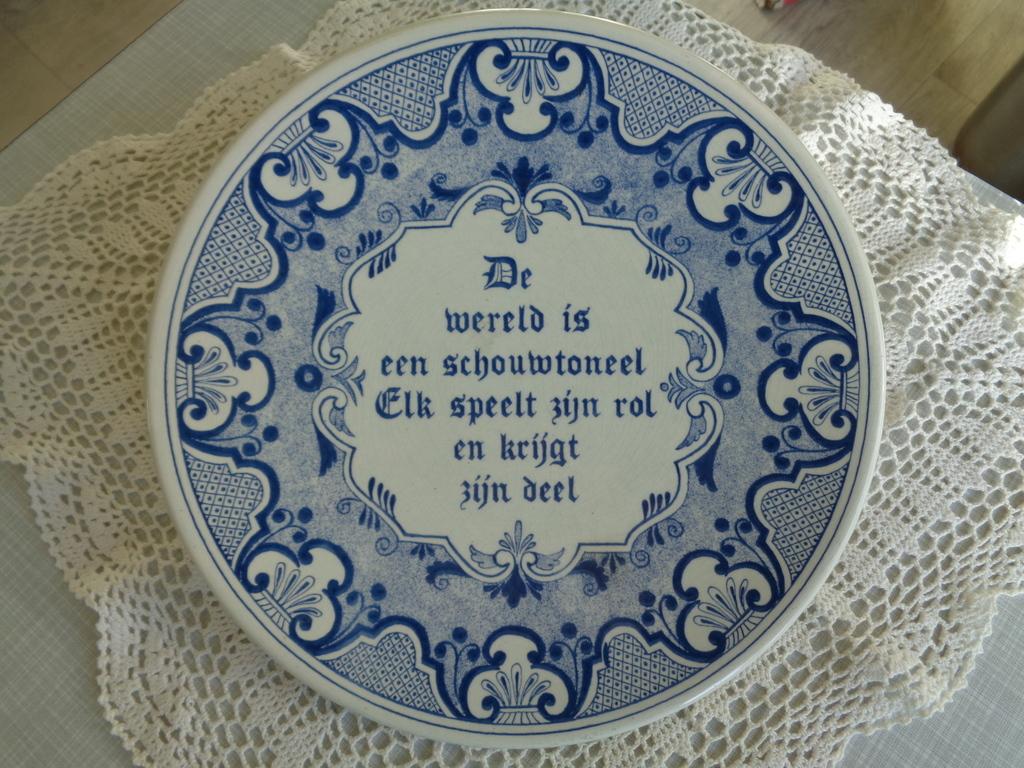spreuken delfts blauw Delfts blauw bord met spreuk   Curiosa en Kunst.nl spreuken delfts blauw
