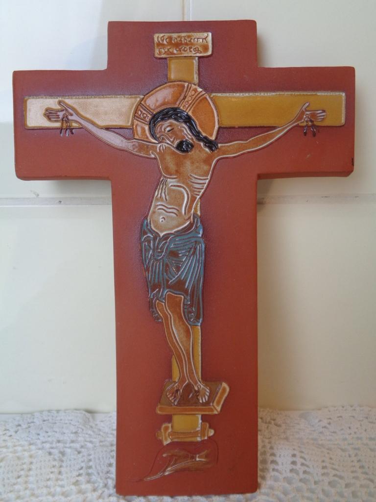 Aardewerk kruis Dépose Ernenwein Marmoutier Alsace