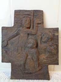 Markant Bronzen Reliëf met Bijbels tafereel circa 1930