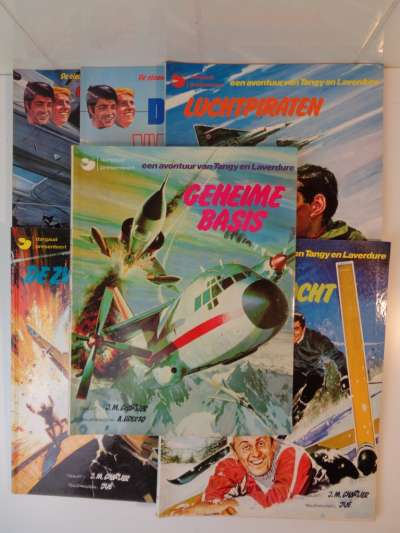 6x Een avontuur van Tangy en Laverdure 1974 tot 1984