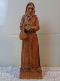 Antiek beeld Dame met tas