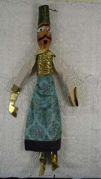 Antieke pop voor poppentheater of poppenkast
