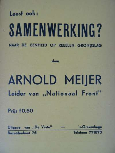 Alles voor ons vaderland Nederland Arnold Meijer