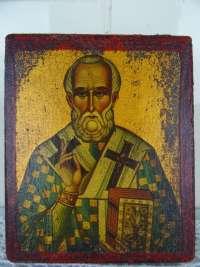 Antiek icoon Heilige Nicolaas van Myra