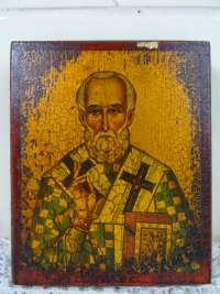 Houten icoon Saint Nicholas