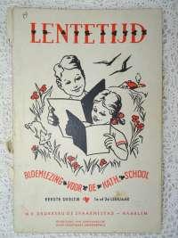 Antiek schoolboekje Lentetijd