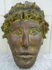 Prachtig decoratief aardewerk masker