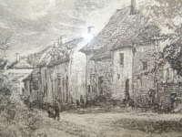 Ingelijste afbeelding Eijsden 1874 door A Barbares