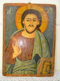 Antiek icoon Jezus Christus