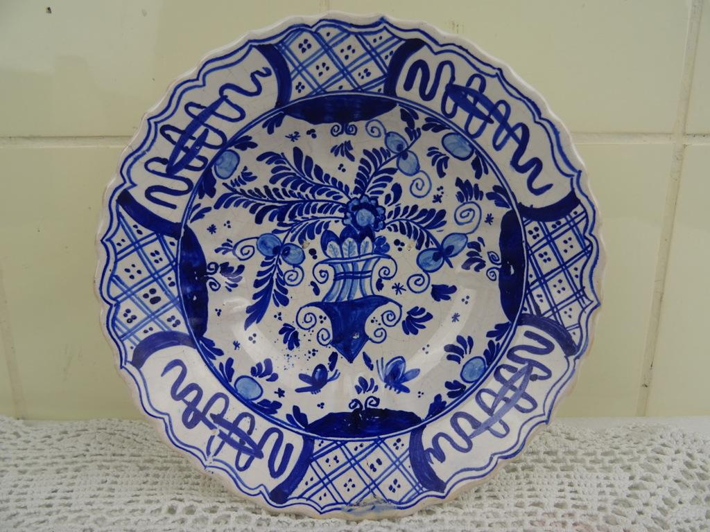 Antiek Delfts Blauw Merktekens.Antiek Delfts Blauw Schaaltje