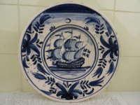 Antiek Delfts blauw wandbord