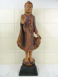 Groot houten Boeddha beeld