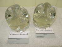 Set zware glazen design presse papiers