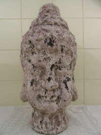 Enorm aardewerk Boeddha hoofd