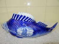 Delfts blauwe bloempot vis