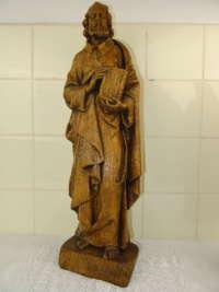 Antiek houten beeld Heilige Petrus
