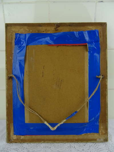 Antieke houten lijst met foto