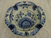 Antieke asbak Delfts blauw