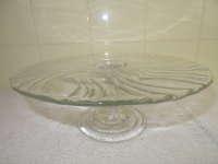 Antiek taartplateau van glas