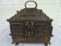 Antiek bronzen kistje Nepal