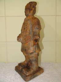 Antiek Chinees beeld Soldaat Terracotta leger curiosa kunst
