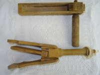 Antieke houten ratelaars