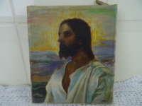 Schilderijtje Jezus S Brasseur 1943