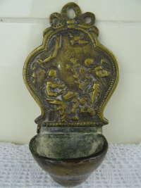 Antiek bronzen wijwatervat ca 1780