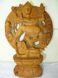 Antiek houten Shiva beeld