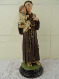 Antiek gipsen beeld Heilige Antonius van Padua