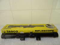 Vintage Tasco riflescope in originele verpakking