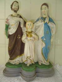 Antiek beeld Jozef Maria en Jezus