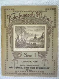 Antiek plaatjesalbum Vaderlandsche Historie uit 1926
