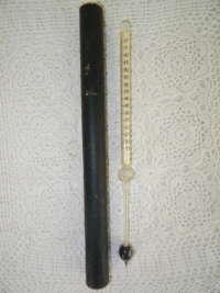 Antieke thermometer in originele doos