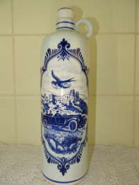Antieke Delfts blauwe fles of kruik