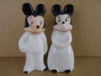 Antieke beeldjes Mickey en Minnie mouse