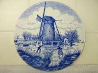 Antiek Delfts blauw wandbord Chemkefa