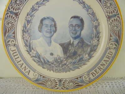 Herinneringsbord Huwelijk Juliana en Bernard