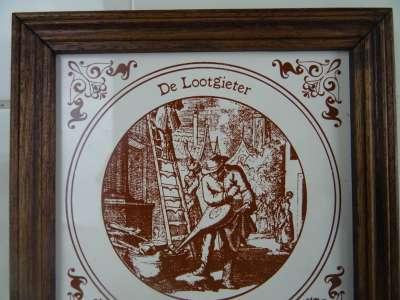 Antieke tegel De Lootgieter