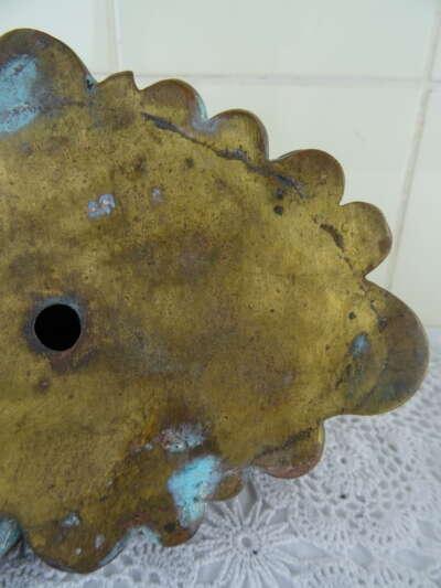 Antiek bronzen beeld mythologische schildpad