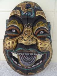 Antiek houten masker draak