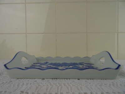 Fraai Delfts blauw dienblad Delfleur