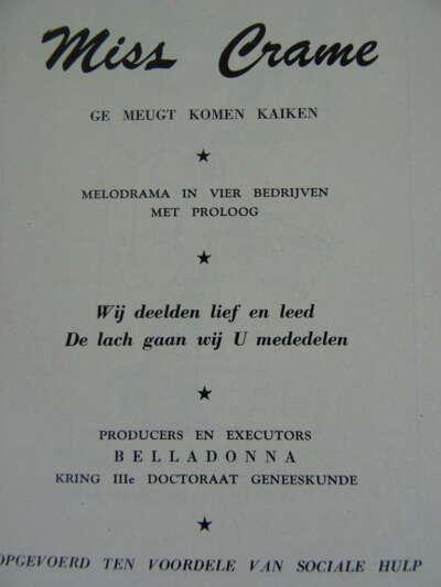 Antiek boekje Revue 1953 Geneeskunde