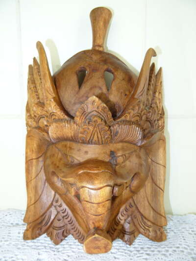 Houten Ganesha masker