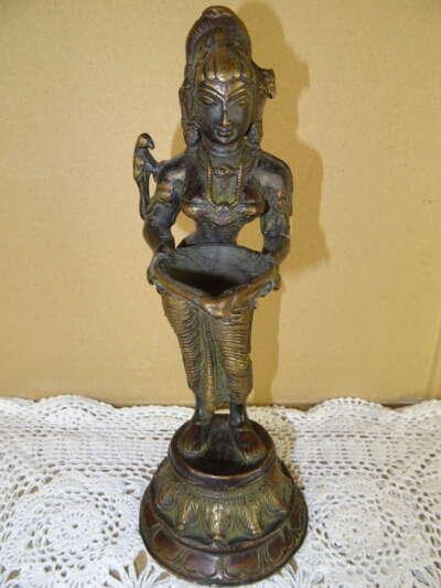 Antiek bronzen Hindoe beeld