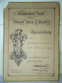 Antiek diploma Examinations board