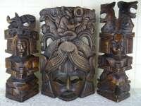 Masker en beelden Maja stijl