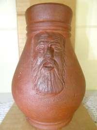 Antiek aardewerk baardmankruikje