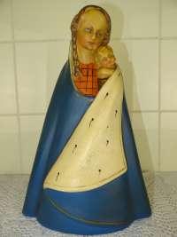 Antiek gipsen Mariabeeld